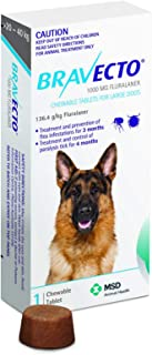 Bravecto Chewable Tablets for Large Dogs up to 20 to 40kg, Blue, 1 chew