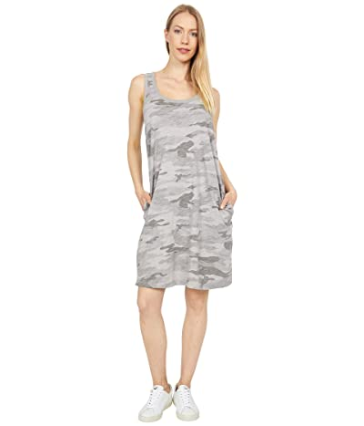 Dylan by True Grit Camo Chic Slub Knit Simple Tank Dress with Pockets