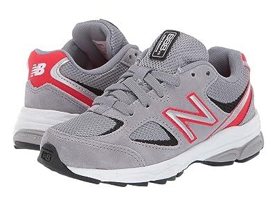 New Balance Kids 888v2 (Little Kid) (Steel/Velocity Red) Boys Shoes