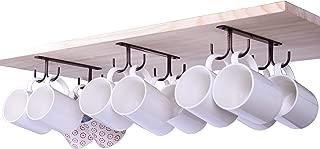 LEVOSHUA Mug Holder, 12 Cabinet Hook Mug Rack, Coffee Cup Holder, Rustic Mug Tree for Small or Large Coffee Mug, Wine Beer Mug, Teapot - Bronze