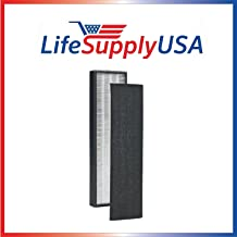 LifeSupplyUSA Replacement True HEPA Compatible with GermGuardian FLT5000/FLT5111 AC5000 Series Air Cleaners, Filter C