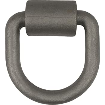 CURT 83750 4-1/4 x 4-1/4-Inch Weld-On Trailer D-Ring Tie Down Anchor, 18,000 lbs Break Strength