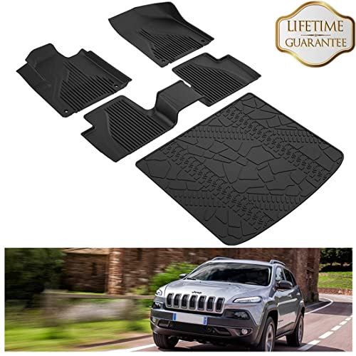 3x Floor Mats Front Rear Liners Carpet Fit For Jeep Renegade 2015 2016 2017 2018
