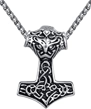 Aoiy - Collar con colgante de hombre de acero inoxidable,