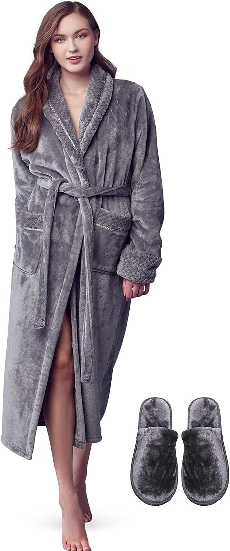 LOTUS LINEN Women Soft Plush Robes w Louisville-Jefferson County Mall for Ranking TOP18 Fluffy GODDESS robe -