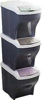 Bama Tris, Poker-Trío de Juego de Cubos de Basura diferenciada, Surtidos, 28 x 40 x 31 cm, 28x40x31 cm
