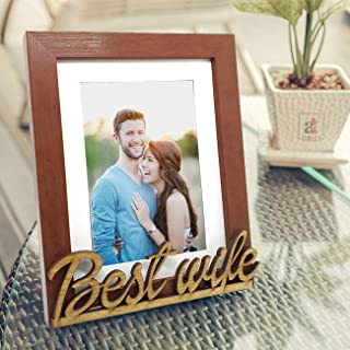 Art street - Best Wife Customize Table Photo Frame Red and Black for Valentine Day(Photo size 6X8) Photo gift/ love gift/ ...