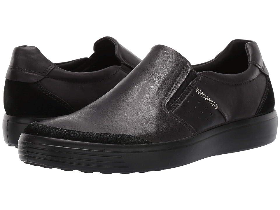 ECCO Soft 7 Relaxed Slip-on (Black/Black) Men