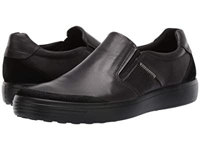 ECCO Soft 7 Relaxed Slip-on (Black/Black) Men