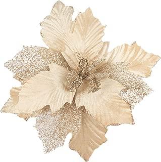 KI Store Large Christmas Poinsettia 6pcs Artificial Flower Picks Spray for Christmas Tree Decoration Wreath Garland