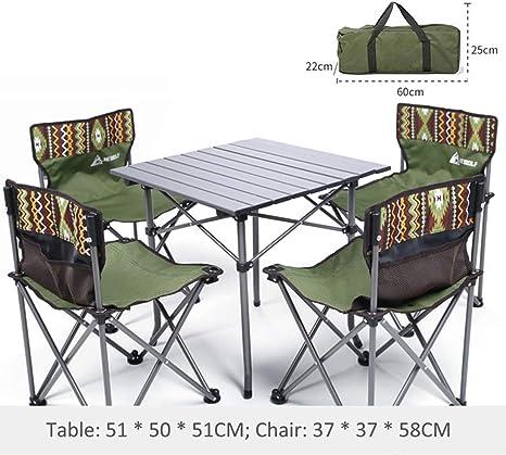 Juego De 7 Sillas De Mesa para Camping - Conjunto Plegable De ...