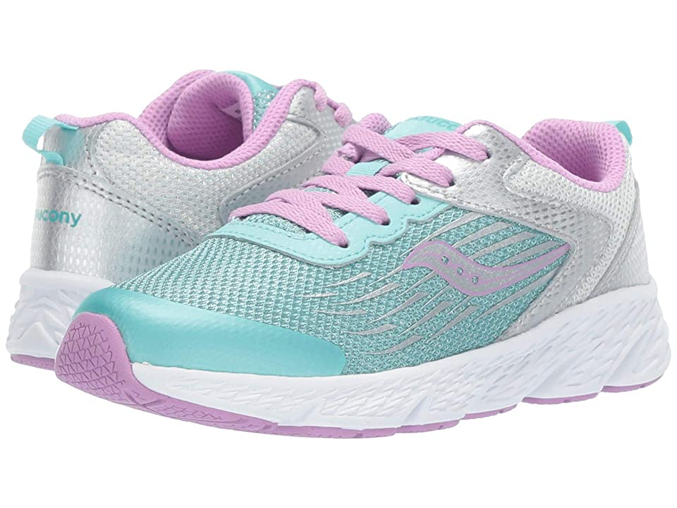 Saucony Kids Wind (Little Kid/Big Kid) (Turquiose/Silver) Girls Shoes
