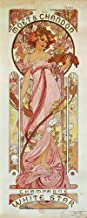White Star Champagne, Moet et Chandon, 1889 by Alphonse Mucha Art Print, 14 x 36 inches