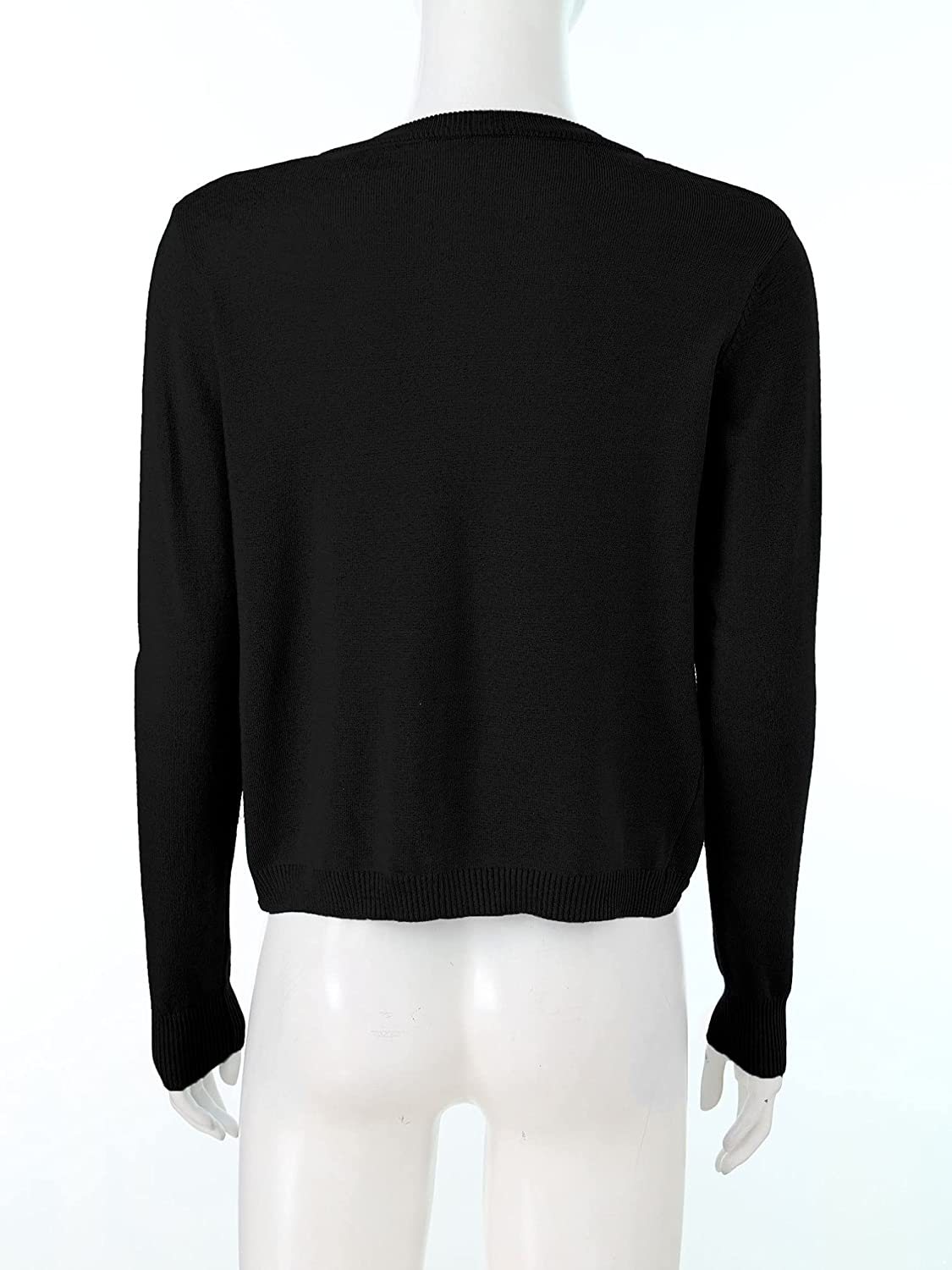 YiZYiF Womens Shrug Bolero Cardigan Long Sleeve Knit Sweater Jackets for Ladies with One Button Front