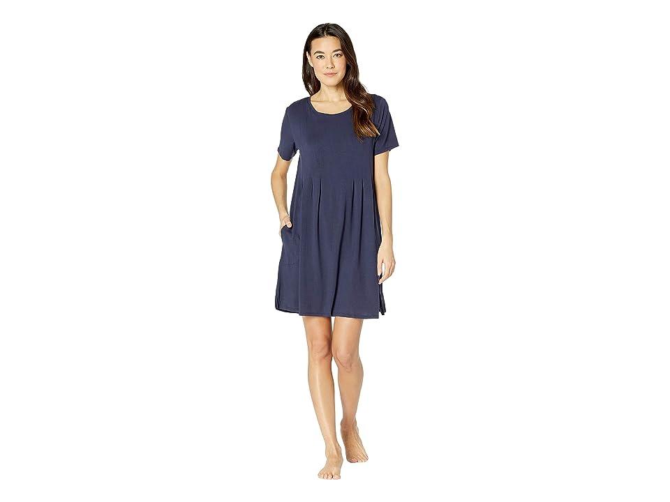 Donna Karan Modal Spandex Jersey Classic Sleepshirt (Ink) Women
