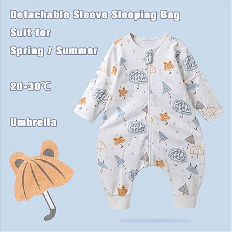 Beb/é Saco de Dormir Algod/ón Bolsa de Dormir con Piernas 1.5 Tog Mameluco Primavera Oto/ño Pijamas Manga Larga para Ni/ños Ni/ñas 0-2 A/ños