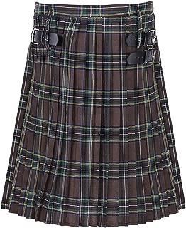 Men's Kilt Traditional Scottish Highland Utility Plaid Tartan Pleated Midi Skirt Costume