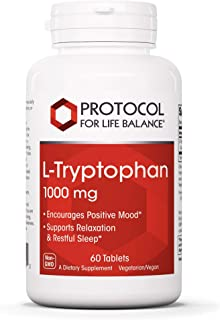 Protocol For Life Balance - L-Tryptophan 1,000 mg - Supports Relaxation, Encourages Positive Mood, and Promotes Restful Sl...