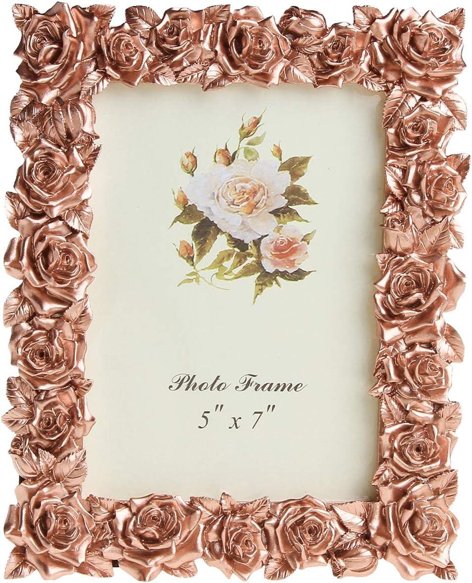 Aivorin Garden Style Resin Picture Frame Rose Flower Decorative