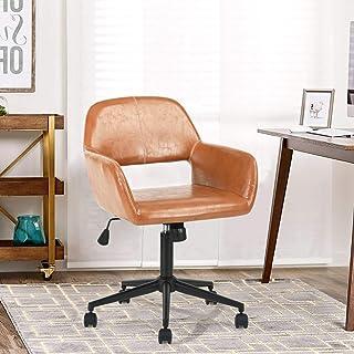 FurnitureR Silla de oficina vintage con respaldo central gir