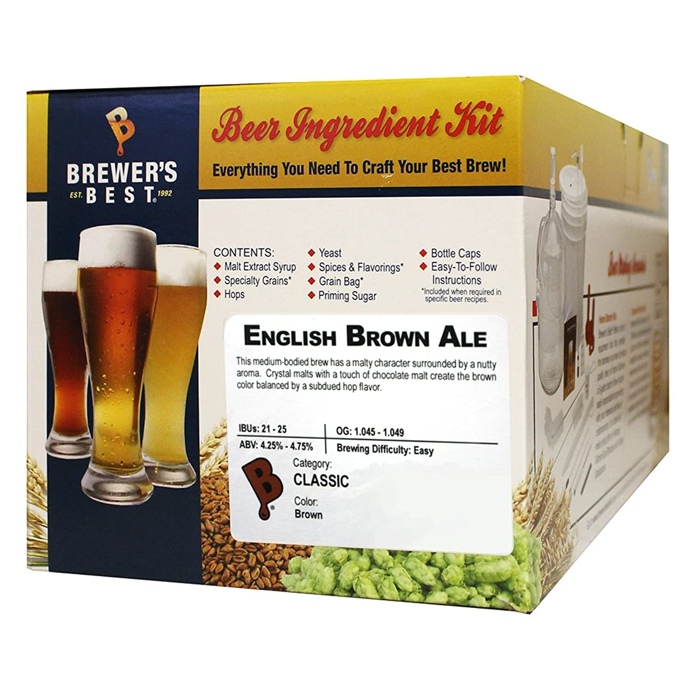 Brewer's Best English Brown Ale Homebrew Beer Ingredient Kit