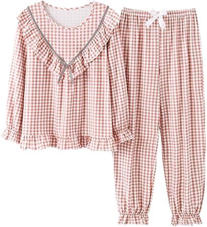 Gxdsya Conjunto De Pijamas A Cuadros De Algodón Conjunto De ...