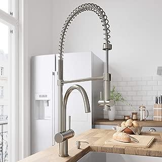 VIGO VG02006ST Dresden Single Handle Pull-Down Sprayer Kitchen Sink Faucet, Centerset Single Hole Faucet, Commercial-Style Design, Premium Stainless Steel Finish