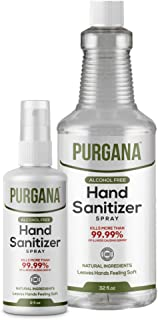 Sponsored Ad - Purgana Alcohol Free Hand Sanitizer 3.4oz with 32oz Refill Kit