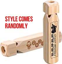 Tatuo 7.4 Inch Train Whistles Wooden Train Whistle for Kids Wood Whistle 4 Tones Wood Train Whistle for Party Favours Party Supplies Party Noisemaker (2)