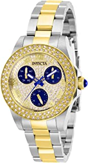 Invicta Women's Angel Quartz Watch with Stainless Steel Strap, Two Tone, 16 (Model: 28476)