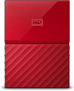 WD HDD ポータブル ハードディスク 4TB USB3.0 レッド 暗号化 パスワード保護 3年保証 My Passport WDBYFT0040BRD-WESN