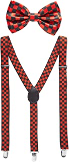 Bowtie and Suspenders for Men | Y Shape Suspender and Bow Tie | Many Colors to Choose From
