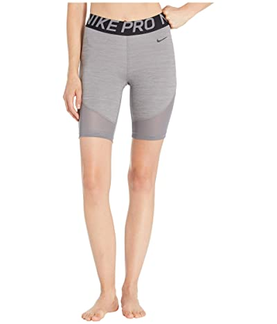 Nike Pro Shorts 8 (Gunsmoke/Heather/Black/Black) Women