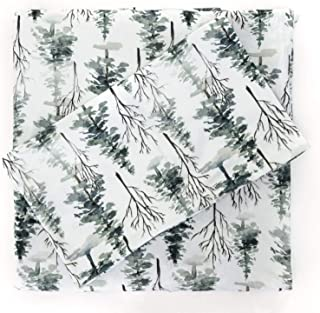 Pobi Baby - Premium Twin Fitted Sheets with Pillow case - Ultra-Soft Cotton Blend, Stylish Woodland Pattern, Deep Pockets...