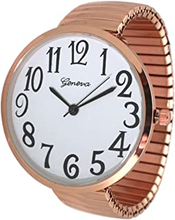 Fashion Watch Wholesale Geneva Super Large Stretch Watch Clear Number Easy Read