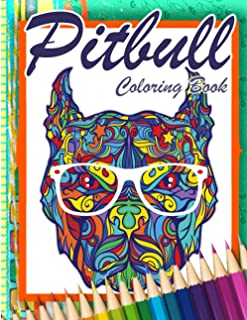Pitbull Mandalas Coloring Book: 35 Beautiful Pitbull Dog Coloring Pages For Adult Release Stress And Relaxation