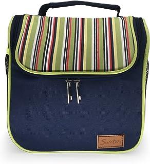 15d744f631758 Sweton Lunch Bag Lunch Box Tote Bag Reusable Zip Closure Handbag Back  Pocket Insulated Bag Cooler
