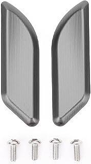VIKOMN オートバイのウィンドスクリーンミラーホールキャップカバー駆動の除去剤キャップコードアクセサリーがフィット DUCATI PANIGALE 959 1299 2015-2017 バイク 風防 (Color : Titanium)