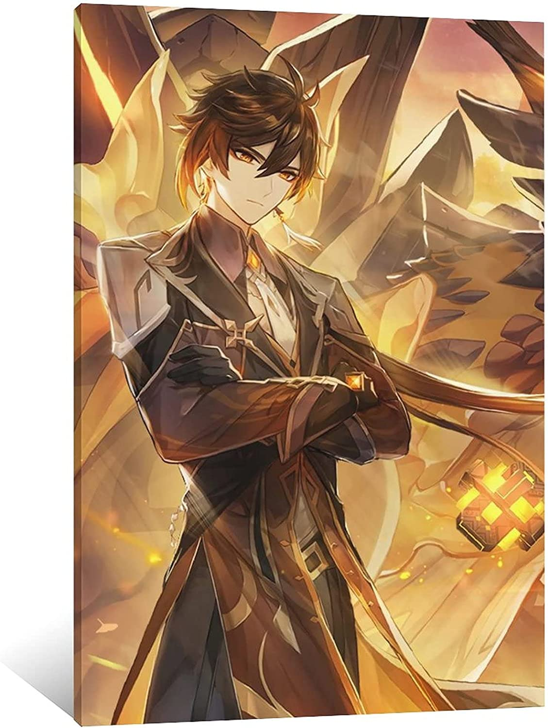 ZHDC Genshin Impact Game Canva San Free Shipping New Diego Mall Poster Decorative Painting