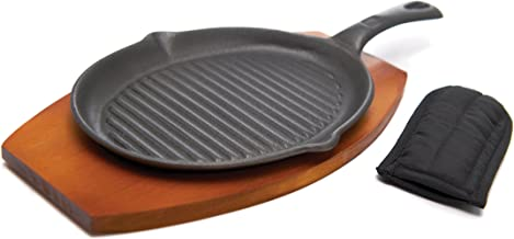 Teal ZEL-SKILL-TEAL Fajitas Eggs Zelancio Enameled 10-Inch Cast Iron Skillet Perfect for Steak and So Much More Oven Safe Smooth Surface Frying Pan