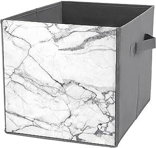 Boîtes de rangement pliables en marbre durable avec poignées de transport pour maison, placard, chambre à coucher, tiroirs