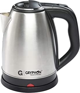 Gryphon GBP1815 1500 Watt 1.8 Litre Electric Kettle with Stainless Steel Body, Automatic Shut Off, Boil Dry Protection and...