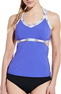CALIA by Carrie Underwood Womens Cutout Tankini Top
