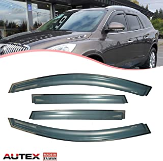 AUTEX Tape on Window Visor Compatible with Buick Enclave 2008 2009 2010 2011 2012 2013 2014 2015 2016 2017 2018 Side Window Wind Deflector Sun Rain Guard