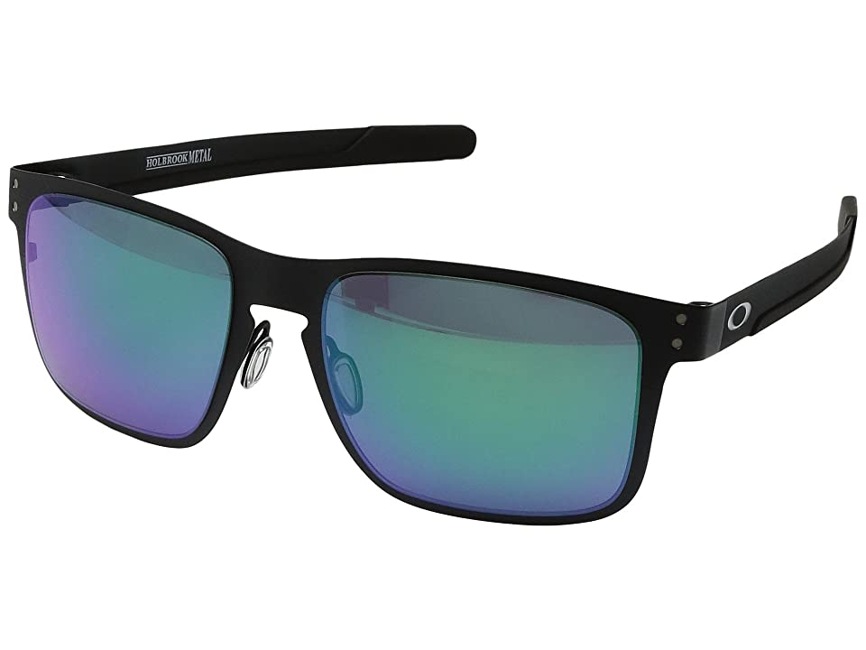 Oakley Holbrook Metal (Matte Black w/ Jade Iridium) Fashion Sunglasses