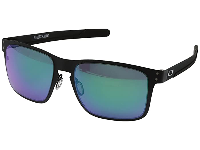 Oakley Holbrook Metal (Matte Black w/ Jade Iridium) Fashion Sunglasses