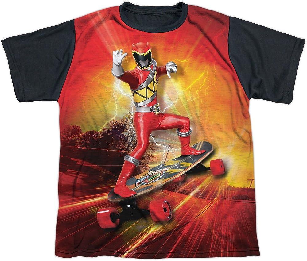 Youth: Power Rangers - Skater Black Back Kids T-Shirt Size YL