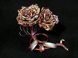 Unique Copper Roses #1661