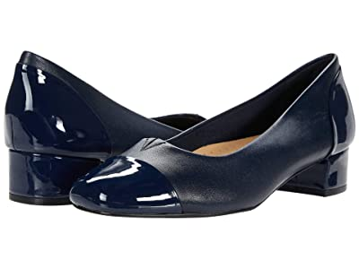 Trotters Daisy (Navy Leather/Patent Leather) Women