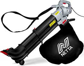 Sponsored Ad – NETTA Leaf Blower and Vacuum 3 in 1 3000W With Rake - Garden Vac & Shredder - 35L Collection Bag 10:1 Shred...